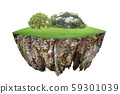 round soil ground cross section with earth land 59301039