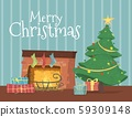Gift Boxes Lying under Decorated Christmas Tree 59309148