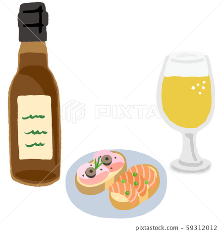 Craft beer and snacks 59312012