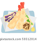 Japanese food Tempura 59312014