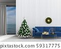 Christmas interior living room. 3d render 59317775