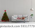 Christmas interior living room. 3d render 59317779