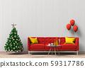 Christmas interior living room. 3d render 59317786