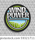 Vector logo for Wind Power 59321711