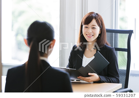 Interview job hunting business woman office 59331207