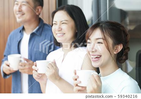 家庭生活方式的下午茶時間 59340216