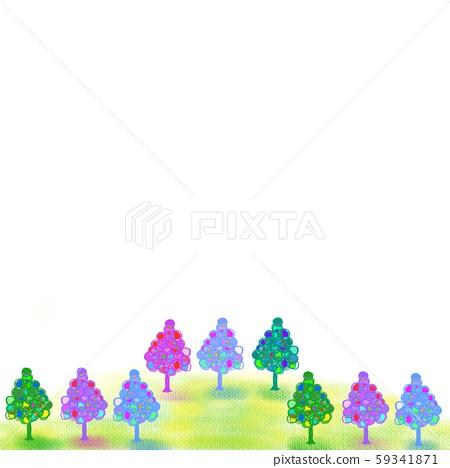 나무 광장 필기 부드러운 공원 야외 59341871