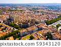 Aerial view of district of Narbonne with apartment buildings 59343120
