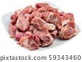 Raw chopped pork 59343460