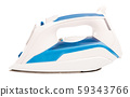 Electric iron isolated over white 59343766
