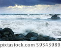 sea wave during storm 59343989