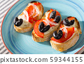Hot sandwiches with cheese 59344155