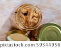 Bonito fish fillets preserved in oil 59344956