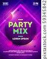 Vector Illustration dj dance party mix poster design. 59345842