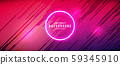 Vector illustration neon glowing techno lines, hi-tech futuristic abstract background template with red lines 59345910