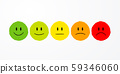 vector illustration user experience feedback concept different mood smiley emoticons emoji icon positive, neutral and negative.  59346060