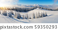 Panorama of winter mountains 59350293