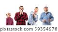 Family members on white studio background. 59354976