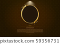 gold frame circle border picture and pattern gold vector illustration 59356731
