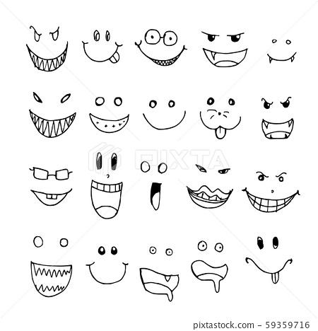 Hand drawn Sketch doodle illustration vector line 59359716