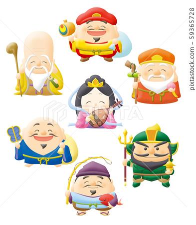 Seven Lucky Gods 59365728