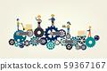 Industrial workers on gears 59367167