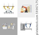 Four square automation robots 59367175