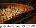Orchestra seats on stage 59367596