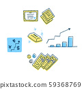Financial image (forex, financial products, cash, gold) 59368769