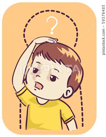 Kid Boy Stalled Growth Development Illustration 59376485