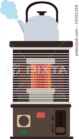 插圖素材爐灶水壺矢量加濕乾濕加熱 59382366