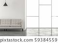 Minimal loft style living room 3d render 59384559