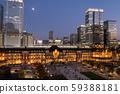东京站夜景城市景观 59388181