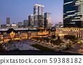 东京站夜景城市景观 59388182