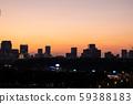 东京富士山的城市风光夜景 59388183