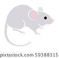 鼠新年賀卡材料 59388315