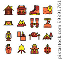 camping color  line icon 59391761