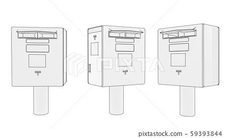 Post box material illustration 59393844