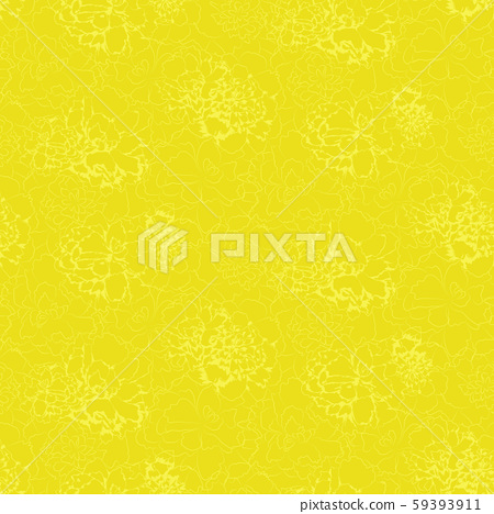 Contours of abstract flowers on english green background 59393911