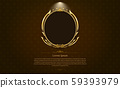 gold frame circle border picture and pattern gold vector illustration 59393979
