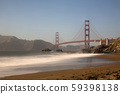 Sea and waves and bridge 59398138