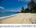 Waves of the azure Andaman sea under the blue sky 59399578