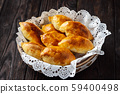Homemade apple pies, russian style pastry.  59400498