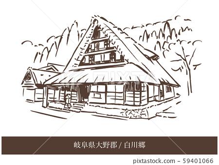 岐阜縣小野郡/白川鄉 59401066
