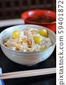 Mushroom rice with ginkgo 59401872