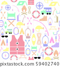 camping seamless pattern background icon. 59402740