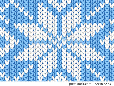 vector knitting seamless background with christmas ornament 59407273