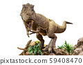 Tyrannosaurus rex . T-rex is walking , growling 59408470