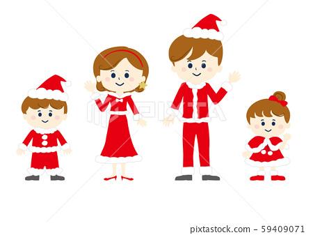 聖誕節,紅色,紅色的衣服,聖誕老人的衣服,聖誕老人的帽子,聖誕老人的帽子,聖誕節家庭,聖誕節家庭,人, 59409071
