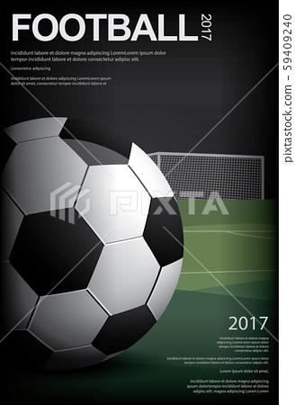 Soccer Football Poster Vestor Illustration 59409240